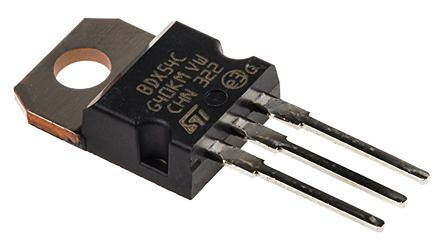 STMicroelectronics BDX54C PNP Darlington Pair, 8 A 100 V HFE:750, 3-Pin TO-220