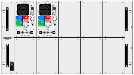 EA Elektro-Automatik EA-FP ELM 5000 dummy panel kit ALU Panel, Accessory Type Dummy Panel Kit, For Use With ELM 5000