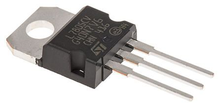 STMicroelectronics, 5 V Linear Voltage Regulator, 1.5A, 1-Channel 3-Pin, TO-220 L7805CV-DG