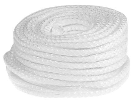 Flame Retardant Glass Fibre Silver, Glass Fibre Yarn Thermal Insulating Rope, 30m x 25mm