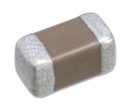 Taiyo Yuden, 0402 (1005M) 100nF Multilayer Ceramic Capacitor MLCC 50V dc ±10% , SMD UMK105B7104KV-FR
