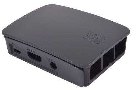 Official Raspberry Pi 3 B Case, Black, Grey
