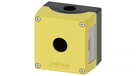 SIRIUS ACT Push Button Enclosure, 1 Hole Yellow, 22.3mm Diameter Metal product photo