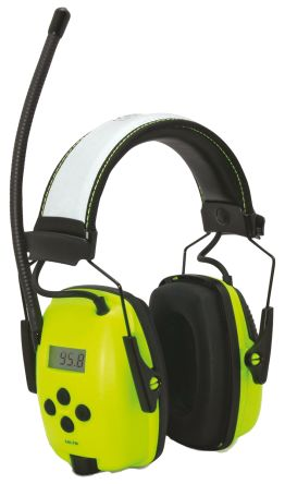 Howard Leight Sync Listen Only Electronic Ear Defenders with Headband, 29dB, Yellow