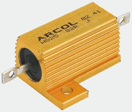 Arcol HS15 Series Aluminium Housed Axial Wire Wound Panel Mount Resistor, 680mΩ ±5% 15W