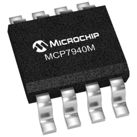 Microchip MCP7940MT-I/SN, Real Time Clock (RTC) Serial-2 Wire, Serial-I2C, 8-Pin SOIC