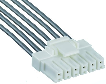 Hirose EnerBee DF33C Female Connector Housing, 3.3mm Pitch, 6 Way, 1 Row