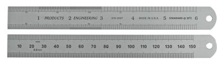 RS PRO Steel Ruler, Imperial or Metric 150mm