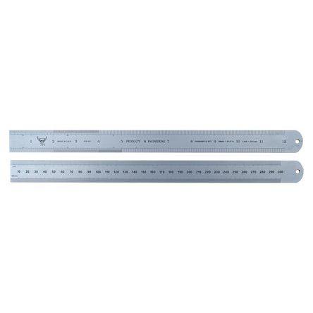 RS PRO Steel Ruler, Imperial or Metric 300mm
