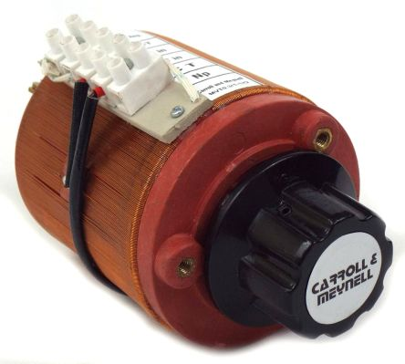 Carroll & Meynell 1 Phase 1kVA Variac, 1 Output, 240V