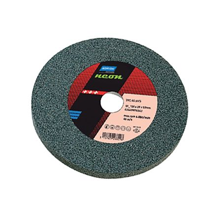 Silicon Carbide Grinding Wheel, 3340rpm, 250mm x 25mm x 31.75mm Bore product photo