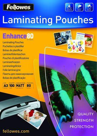 Fellowes A3 Lamination Pouch 80micron, 100