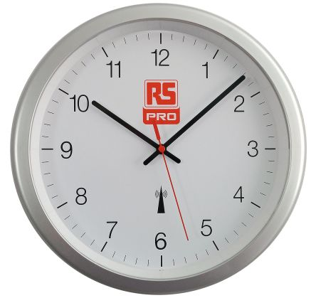 Radio Controlled Silver Wall Clock, 300mm product photo