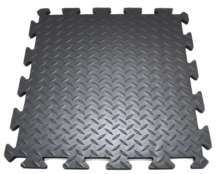 COBA Deckplate Connect Interlinking End Tile PVC Anti-Fatigue Mat x 500mm, 500mm x 14mm