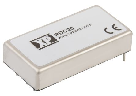 XP Power RDC 20W Isolated DC-DC Converter Through Hole, Vin 36 → 140 V dc,  Vout ±5V dc Railway Approved, I/O