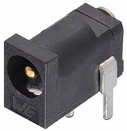 Through Hole DC Power Socket WR-DC Series, 3.5mm Right Angle 2A product photo