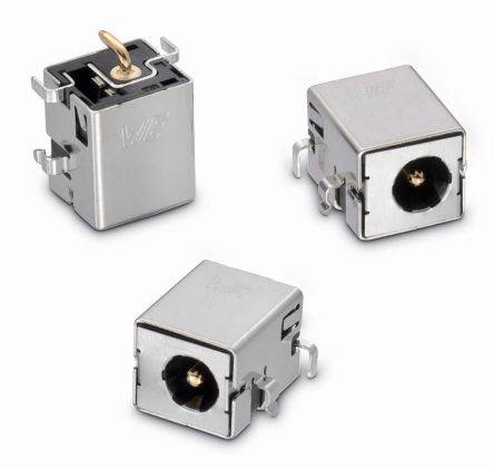 Through Hole DC Power Socket WR-DC Series, 1.65mm Right Angle 5.5A product photo