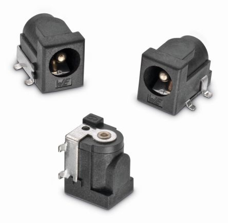 Surface Mount DC Power Socket WR-DC Series, 2.55mm Right Angle 5A product photo