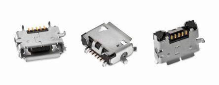 Wurth Elektronik AB 2.0 Micro USB Connector Receptacle, Horizontal