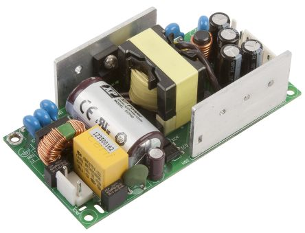 XP Power 60W Dual Output Embedded Switch Mode Power Supply SMPS, 2 A, 7 A, 5 V dc, 15 V dc Medical Approved