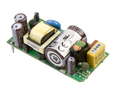 XP Power 15W Embedded Switch Mode Power Supply SMPS, 1A, 15V dc