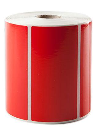 Test N Tag Desk Label Roll - Red 50mm