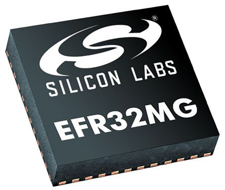 Silicon Labs EFR32MG1P233F256GM48-C0, RF Transceiver 2.4GHz Dual Band 48-Pin QFN