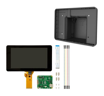 DesignSpark Toucscreen+Black Case, Official Raspberry Pi Black Case 7in Capacitive Touch Screen Bundle for Raspberry Pi
