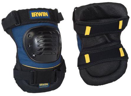Irwin Black/Blue ABS Plastic Adjustable Strap Knee Pad Resistant to Impact