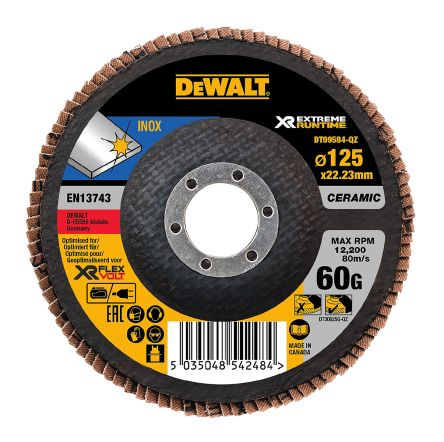 DeWALT Ceramic Flap Disc, 125mm