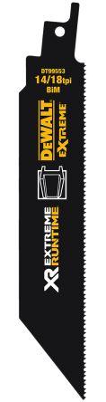 DeWALT, 14/18 TPI Teeth Per Inch Reciprocating Saw Blade, Pack of 5
