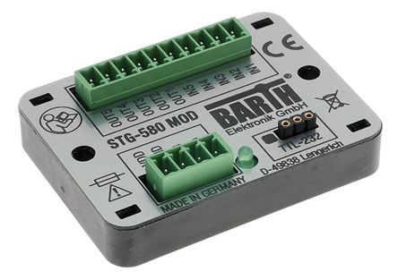 BARTH STG-580 MOD Logic Module, 7 → 32 V dc Digital, PWM, Solid-State, 5 x Input, 6 x Output Without Display