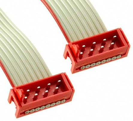 TE Connectivity Micro-Match Ribbon Cable Assembly, Micro-Match MOW Plug to Micro-Match MOW Plug, 200.5mm