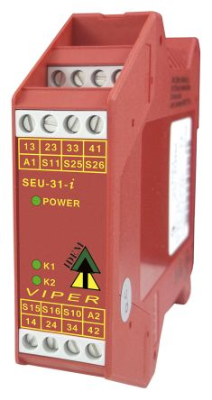 Viper SCR Input/Output Module, 2 Inputs, 1 (Auxiliary), 3 (Safety) Outputs, 24 V ac/dc product photo