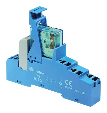 48 Series 110V ac DIN Rail Interface Relay Module, SPDT, Push In product photo