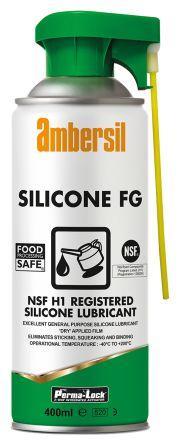 Ambersil Lubricant Silicone 400 ml Perma-Lock Silicone FG Aerosol,Food Safe