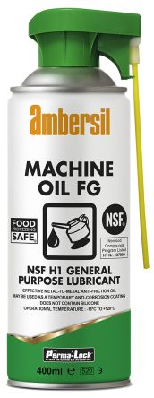 Ambersil 400 ml Perma-Lock Machine Oil Aerosol Oil for Industrial Machinery