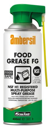 Ambersil Mineral Oil Grease 400 ml Perma-Lock Food Grease FG Aerosol,Food Safe