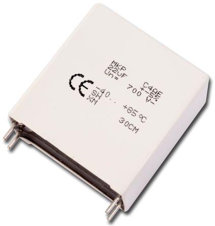 KEMET 10μF Polypropylene Capacitor PP 1.1kV dc ±5% Tolerance Through Hole C4AE Series