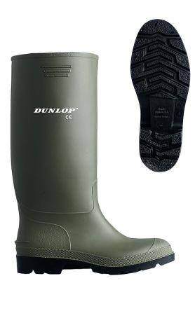 Dunlop Womens Ladies Waterproof Boots/Green PVC Wellington Wellies Slip Pricemaster Shoes & Bags
