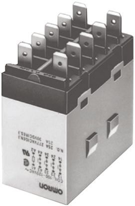 Omron G7J 4PST-NO Non-Latching Relay Panel Mount, 24V dc Coil, 25A on