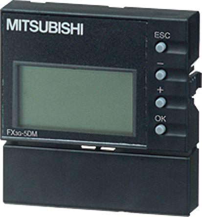 Mitsubishi FX3G Series, FX3GE Series Backlit STN LCD HMI Panel, 5 V dc Supply, 49.4 x 51.2 x 12 mm
