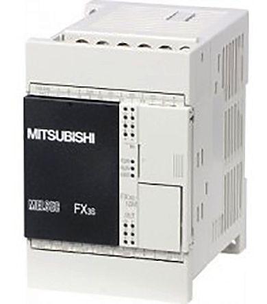 Mitsubishi FX3S PLC CPU, Ethernet, ModBus Networking Mini USB B Interface,  4000 steps Program Capacity, 8 (Sink/Source)