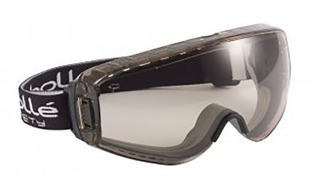 Bolle PILOT Anti-Mist Coating, Scratch Resistant Grey Polycarbonate (PC) Safety Goggles