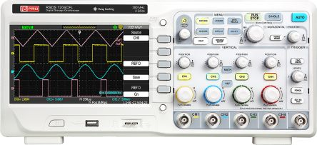 RS Pro RSDS1000 Series RSDS1204CFL Digital Oscilloscope, Digital Storage, 4 Channels, 200MHz