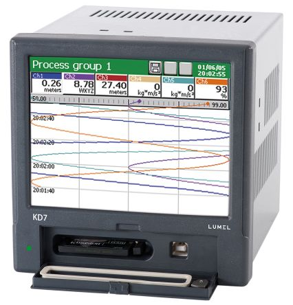 KD7, 5 Channel, Graphic Recorder Measures Current, Humidity, Resistance, Temperature, Voltage product photo