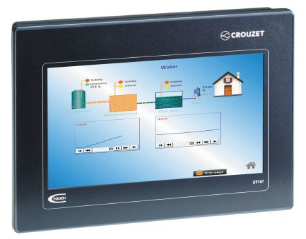 Crouzet em4, Millenium 3 Touch Screen HMI - 7 in, TFT LCD Display, 800 x 480pixels