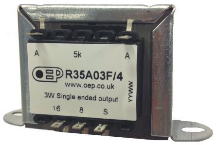 Panel Mount Audio Transformer 8 Ω, 16 Ω 3W