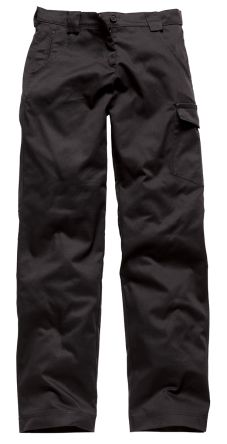 Dickies Redhawk Black Women's Cotton, Polyester Trousers Imperial Waist 14in