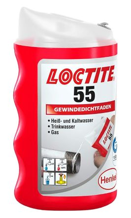 PIPE THREAD SEALING CORD 160M LOCTITE 55 GAS//WATER//PNEUMATICS